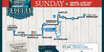 Sunday RAGBRAI Route