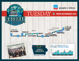 Tuesday RAGBRAI Route Map