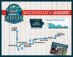 2017 RAGBRAI Route Map Wednesday