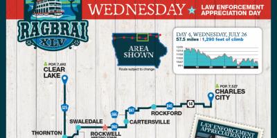 2017 RAGBRAI Route Map Wednesday