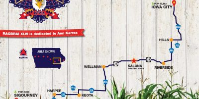 RAGBRAI XLVI Friday Route
