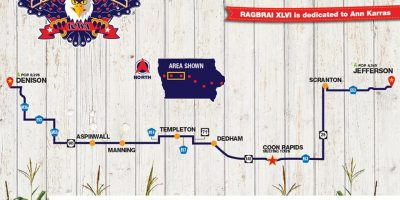 Monday Route Map