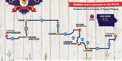 Tuesday Route Map